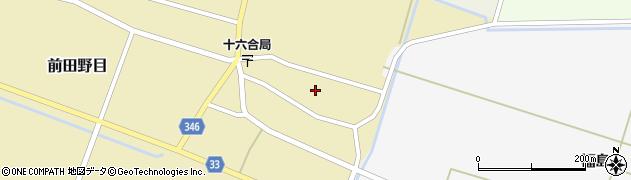 山形県東田川郡庄内町前田野目前割18周辺の地図