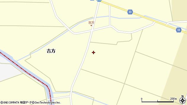 山形県東田川郡庄内町吉方主計田周辺の地図