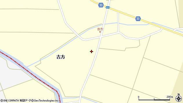 山形県東田川郡庄内町吉方稗田周辺の地図