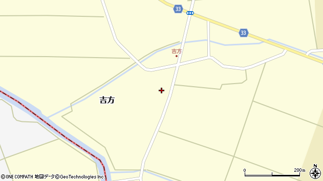 山形県東田川郡庄内町吉方稗田68周辺の地図