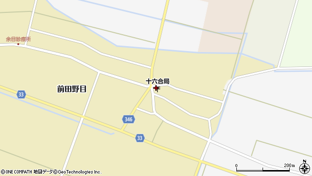山形県東田川郡庄内町前田野目前割62周辺の地図