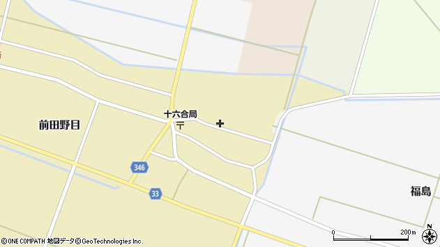 山形県東田川郡庄内町前田野目田割63周辺の地図