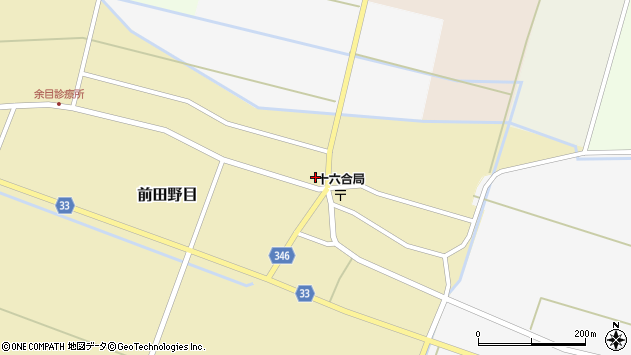 山形県東田川郡庄内町前田野目田割26周辺の地図