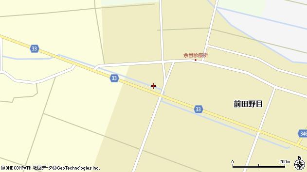 山形県東田川郡庄内町前田野目前割203周辺の地図