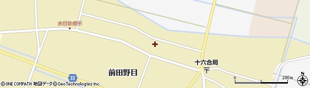 山形県東田川郡庄内町前田野目田割38周辺の地図
