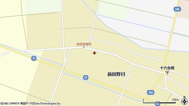 山形県東田川郡庄内町前田野目前割102周辺の地図