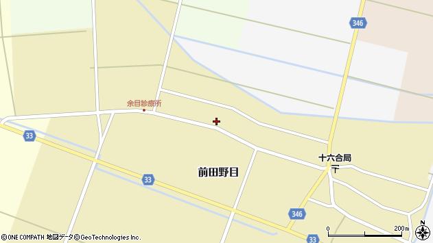 山形県東田川郡庄内町前田野目田割45周辺の地図
