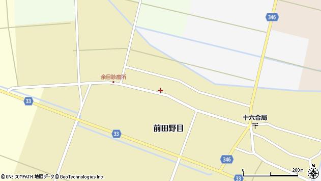 山形県東田川郡庄内町前田野目田割48周辺の地図