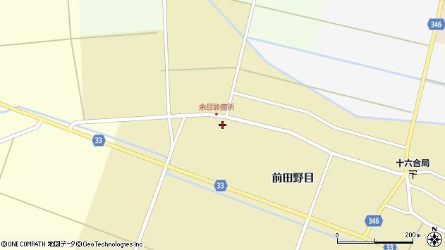 山形県東田川郡庄内町前田野目前割149周辺の地図