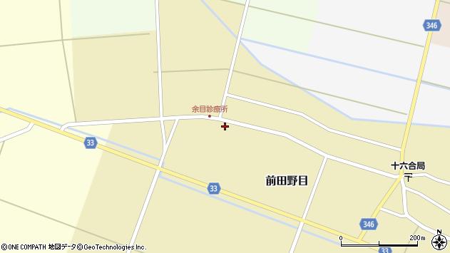 山形県東田川郡庄内町前田野目前割140周辺の地図