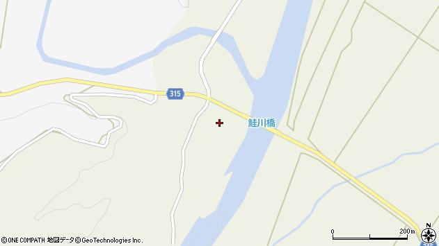 山形県最上郡鮭川村佐渡1752周辺の地図