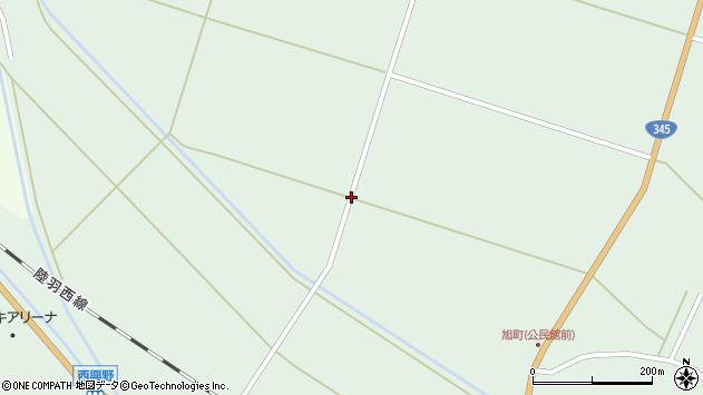 山形県東田川郡庄内町狩川沼下周辺の地図