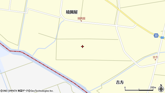 山形県東田川郡庄内町吉方西野周辺の地図