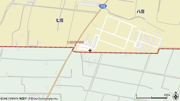 山形県酒田市浜中八窪周辺の地図