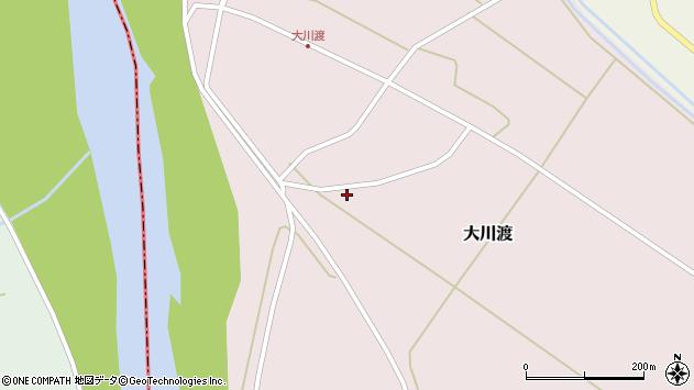 山形県酒田市大川渡上大川渡周辺の地図