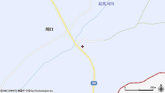 山形県最上郡鮭川村川口34周辺の地図