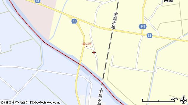 山形県東田川郡庄内町西袋橋之脇38周辺の地図