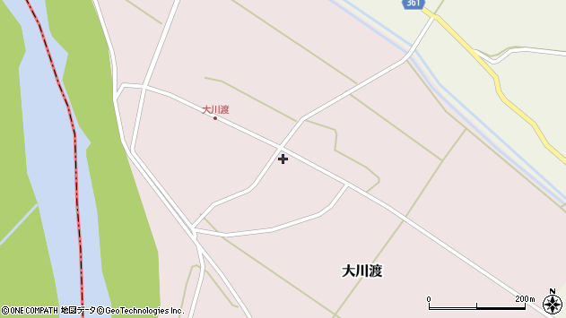 山形県酒田市大川渡五反割31周辺の地図