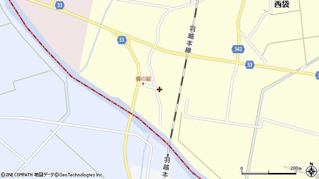 山形県東田川郡庄内町西袋橋之脇17周辺の地図