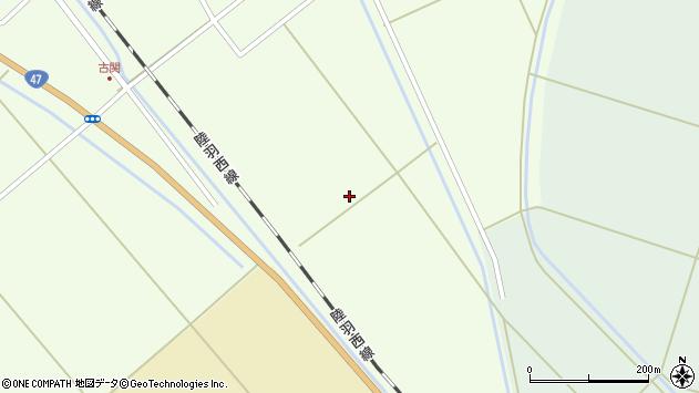 山形県東田川郡庄内町古関杉の下周辺の地図