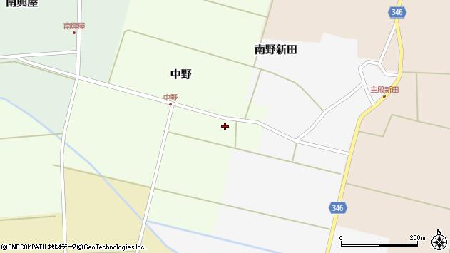山形県東田川郡庄内町中野前割19周辺の地図