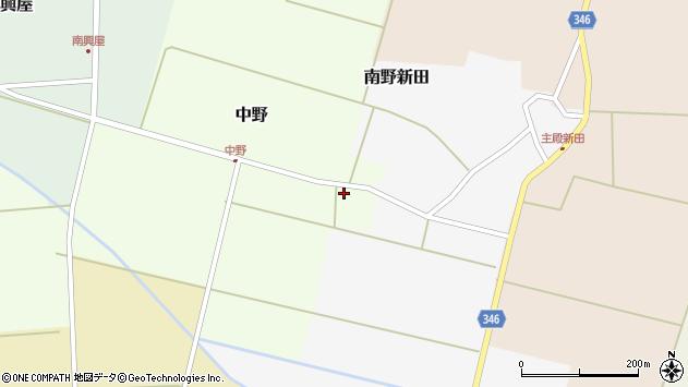 山形県東田川郡庄内町中野前割14周辺の地図