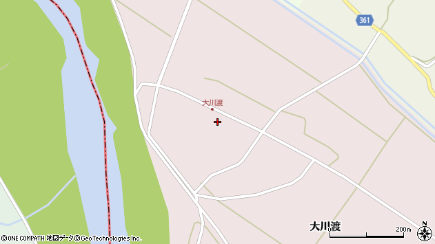 山形県酒田市大川渡五反割51周辺の地図