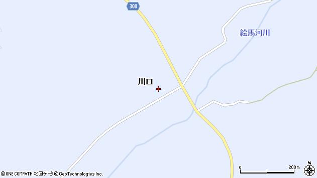 山形県最上郡鮭川村川口68周辺の地図