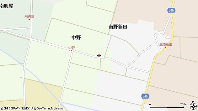 山形県東田川郡庄内町中野北割11周辺の地図