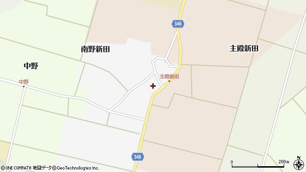 山形県東田川郡庄内町南野新田前割周辺の地図