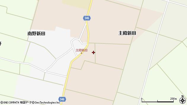 山形県東田川郡庄内町主殿新田前割周辺の地図
