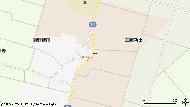 山形県東田川郡庄内町主殿新田前割22周辺の地図
