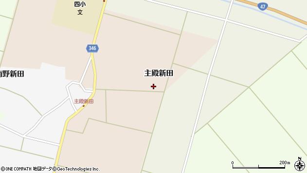 山形県東田川郡庄内町主殿新田北浦42周辺の地図