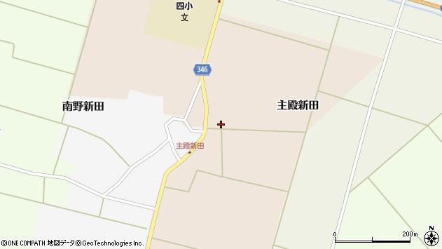 山形県東田川郡庄内町主殿新田周辺の地図