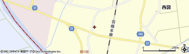 山形県東田川郡庄内町西袋村西34周辺の地図