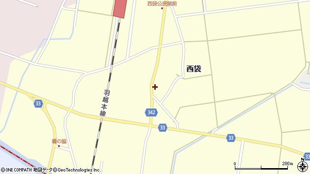 山形県東田川郡庄内町西袋村立53周辺の地図