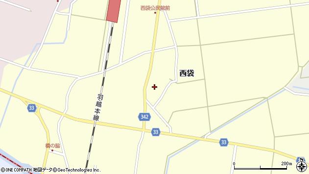 山形県東田川郡庄内町西袋村立31周辺の地図