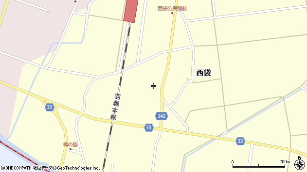 山形県東田川郡庄内町西袋村立周辺の地図