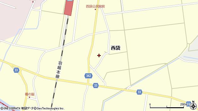 山形県東田川郡庄内町西袋村立32周辺の地図