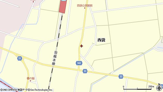 山形県東田川郡庄内町西袋村立67周辺の地図