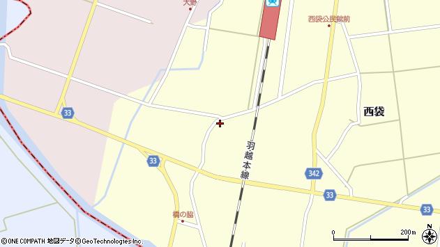 山形県東田川郡庄内町西袋村西25周辺の地図