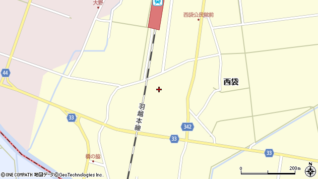 山形県東田川郡庄内町西袋村立85周辺の地図