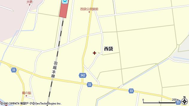 山形県東田川郡庄内町西袋村立33周辺の地図