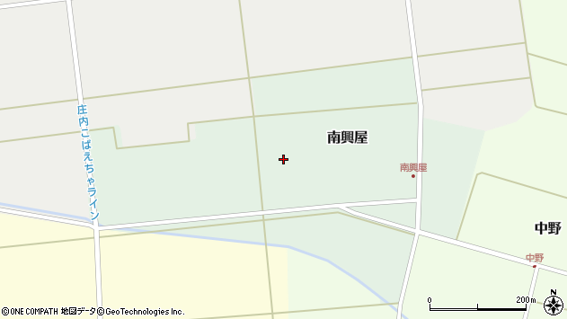 山形県東田川郡庄内町南興屋大割周辺の地図