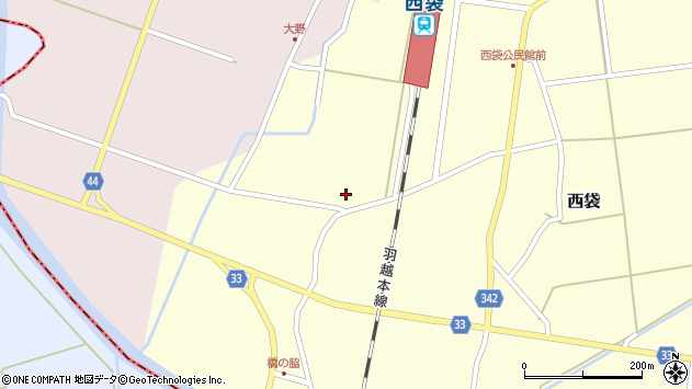 山形県東田川郡庄内町西袋村西13周辺の地図