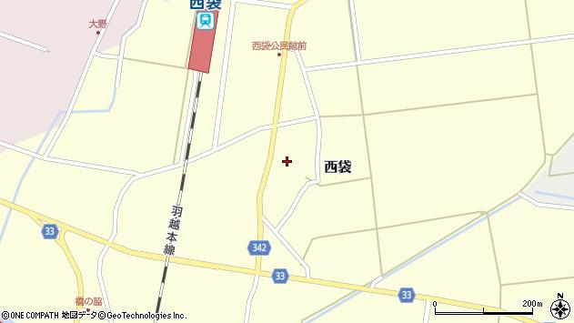 山形県東田川郡庄内町西袋村立34周辺の地図