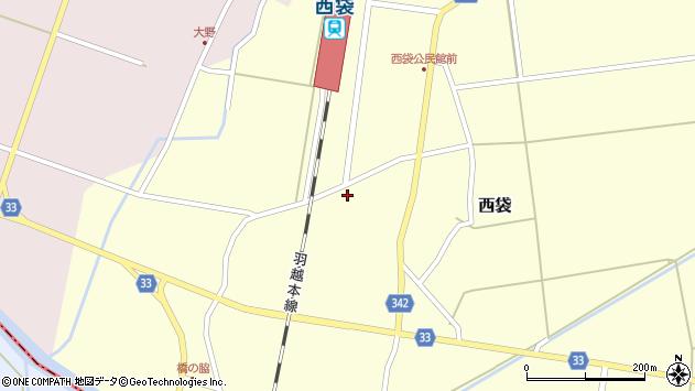 山形県東田川郡庄内町西袋村立92周辺の地図