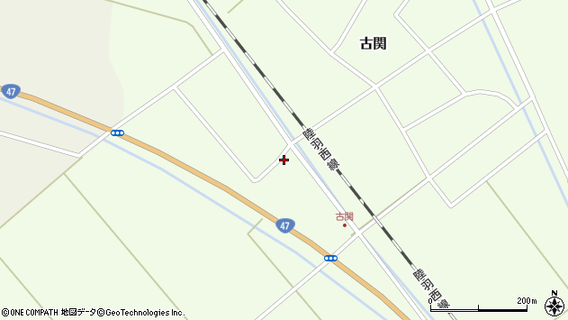 山形県東田川郡庄内町古関土手の下25周辺の地図