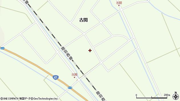 山形県東田川郡庄内町古関古館56周辺の地図