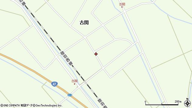 山形県東田川郡庄内町古関古館3周辺の地図